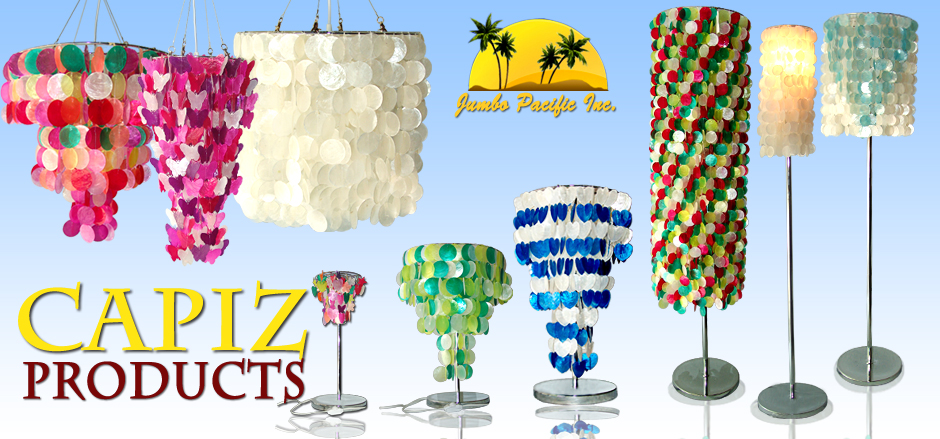 Jumbo Pacific Inc. Raw shell of capiz lightings that suits your room as decrations in night.