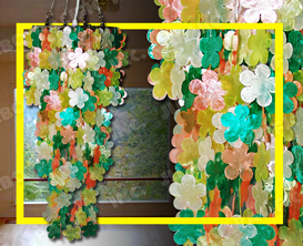 Flower Capiz chips design for capiz chandelier