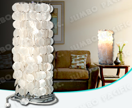 Natural Capiz Chip Design for Table Capiz Lamp shade